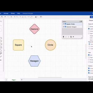 Managing line jumps on layers in draw.io diagrams for Atlassian Confluence and Jira