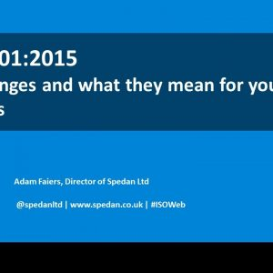 Promapp webinar: ISO 9001:2015 - the changes and what they mean for your business