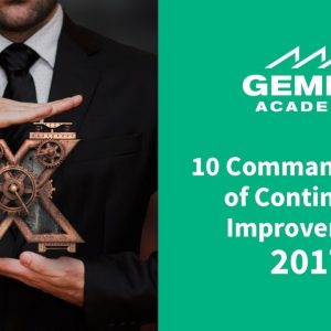 10 Commandments of Continuous Improvement (2017)