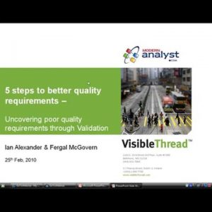 5 steps to better quality requirements – with Ian Alexander