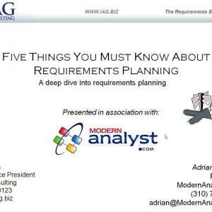 5 Things You Must Know About Requirements Planning Webinar