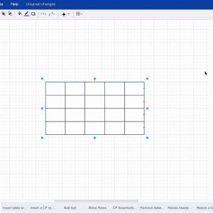 Add a table to your draw.io diagram for Confluence