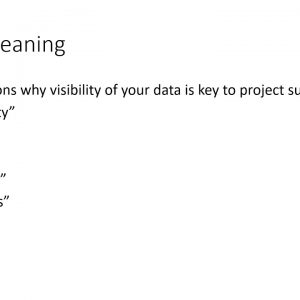 Legal Project Management Webinar - 10 Reasons why visibility of your data is key to project success