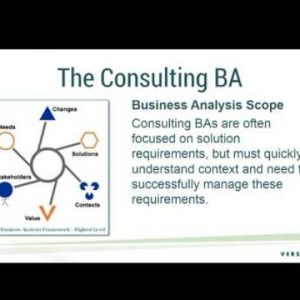 Building Business Analysis Capability in a Consulting Business