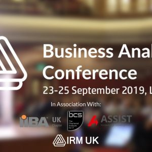 Business Analysis Conference Europe 23-25 September 2019, London