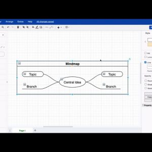 Create a mind map in draw.io diagram for Atlassian Confluence & Jira