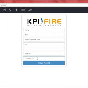 Createa a New KPI Fire Account