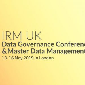 Data Governance Conference & Master Data Management Summit Europe 2019