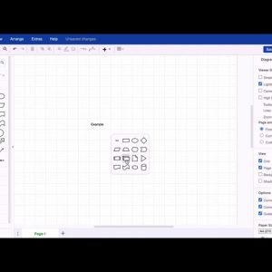 Double-click to add a shape in draw.io for Confluence