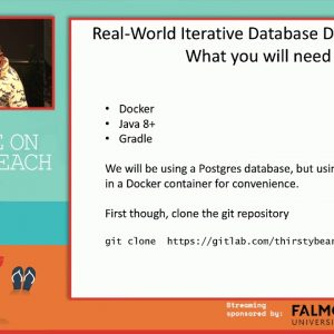 Real World Iterative Database Development - Chris Pitts & Ron Ballard, Agile on the Beach 2019