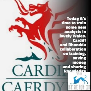 Today it's time to train some new analysts in lovely Wales. Cardiff and Rhondda collaboration on tr…