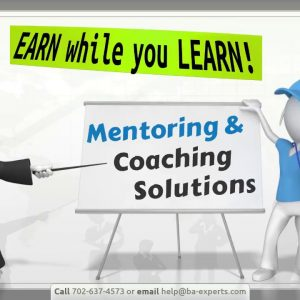 EARN while you LEARN: Business Analysis eCoaching and eMentoring