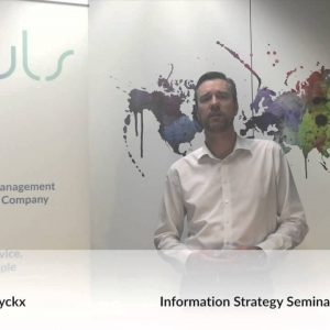 Defining and Executing Your Information Strategy - Jan Henderyckx Seminar