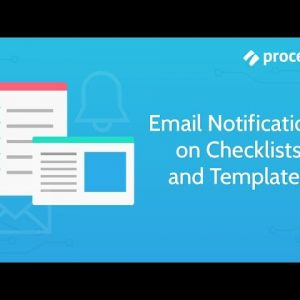 Email Notifications on Checklists and Templates