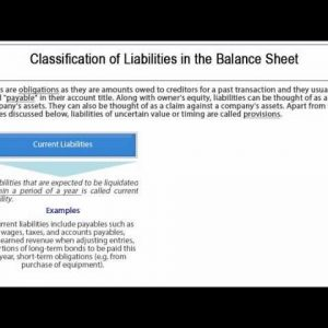 Financial Accounting Concepts - Liabilities Tutorial 4 of 10