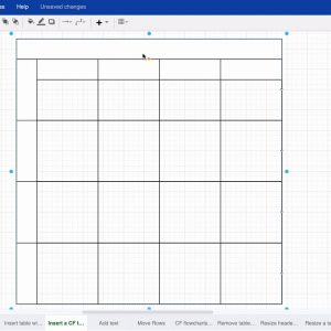 Add a table for cross functional flowcharts to your draw.io diagrams in Confluence