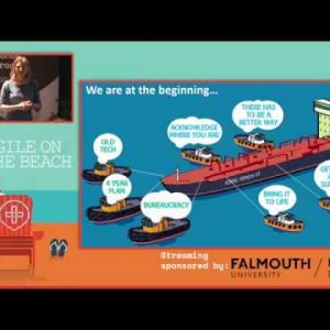 Turning the Oil Tanker - Mark Rudge and Suzanne Manson, Agile on the Beach 2019