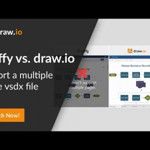 Gliffy vs. draw.io comparison - Import a vsdx file with multiple pages