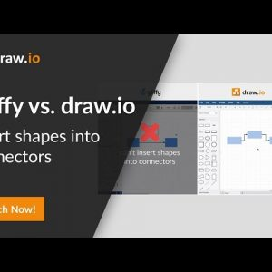 Gliffy vs. draw.io comparison - Split a connector by inserting a shape