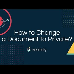 How to Change a Creately Document to Private