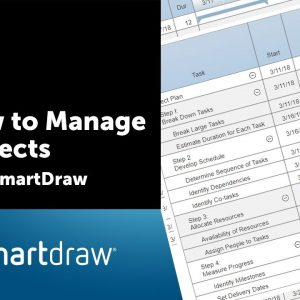 How to Manage Projects with SmartDraw