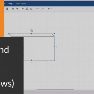 How to resize and move shapes in draw.io diagrams on Windows