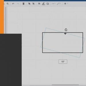 How to rotate shapes in draw.io diagrams