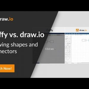 Gliffy vs. draw.io comparison - Create a diagram with shapes and connectors