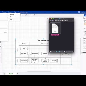 Importing and exporting a file in draw.io for Confluence Cloud