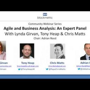 Webinar: Agile and Business Analysis: An Expert Panel with Lynda Girvan, Chris Matts & Tony Heap