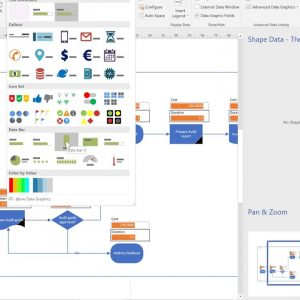 Using Visio to create a flowchart from Excel and update Excel from Visio