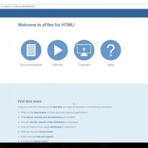 Introduction to the evaluation package of yFiles for HTML version 2.1