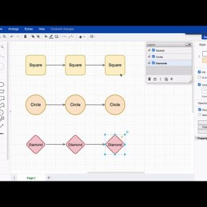 Working with connectors and layers in draw.io for Atlassian Confluence and Jira