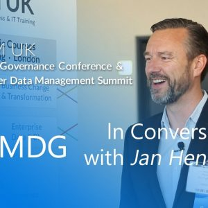In Conversation With Jan Henderyckx, Data Governance Chair | MDM & DG Conference Europe 2019