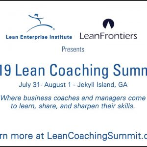 Join us at the Lean Coaching Summit