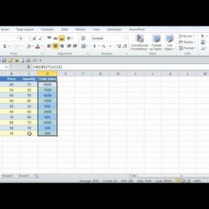 Microsoft Excel 2010 Using Array Formulas Tutorial 1 of 2