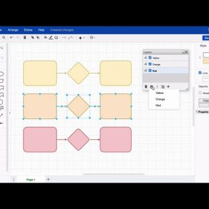 Move shapes to layers in draw.io for Atlassian Confluence and Jira