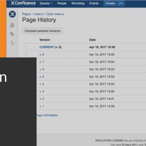 Use the Atlassian Confluence revision history to see the changes made to draw.io diagrams