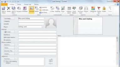 Microsoft Outlook 2010 - Tutorial 2 of 3- Managing Mails, Calendar,  Contacts and Meetings