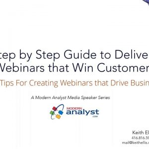 Step-by-Step Guide to Delivering Webinars that Win Customers Webinar June 18 2020