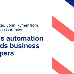 Process automation demands business developers