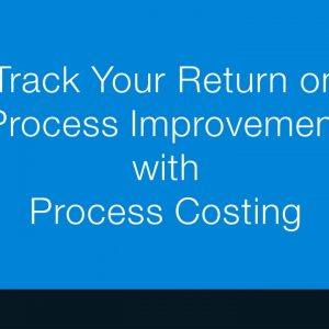 Process Costing with Promapp