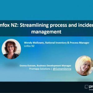 Promapp webinar: Linfox NZ  Streamlining process and incident management