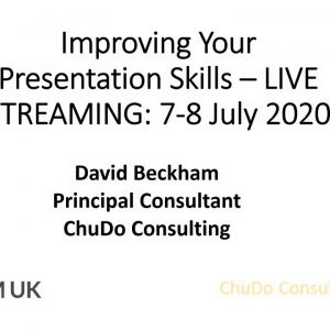 Live Streaming Public Course: Improving Your Presentation Skills | 7-8 July 2020