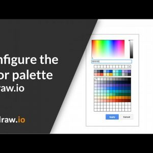 How to use custom colors in draw.io for Atlassian Confluence Server by default