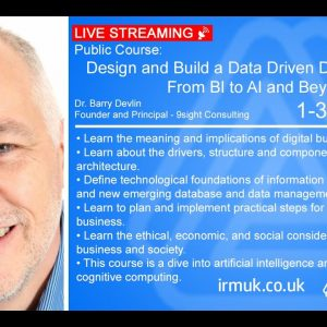 LIVE STREAMING: Design and Build a Data Driven Digital Business—From BI to AI and Beyond
