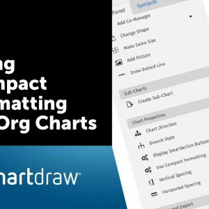 SmartDraw Tip: Using Compact Formatting