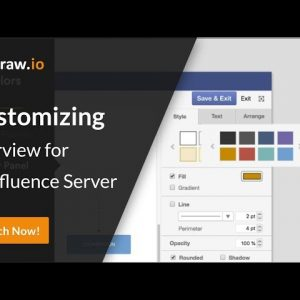 Diagram faster when you customize the draw.io app in Atlassian Confluence (Server)