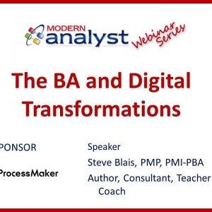 The BA and Digital Transformations Webinar - May 7, 2020