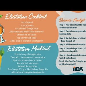 The IIBA Drink - Elicitation Cocktail and Mocktail